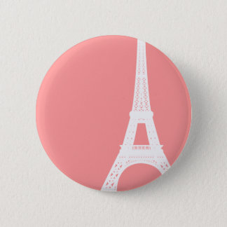 Eiffel Tower Pink 6 Cm Round Badge