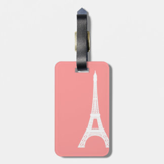 Eiffel Tower Pink Luggage Tag