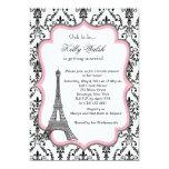 Eiffel Tower Pink Paris Bridal Shower Invitation 13cm X 18cm Invitation Card