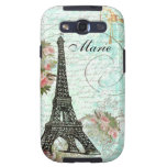 Eiffel Tower & Pink Roses Galaxy S3 Cases