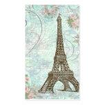 Eiffel Tower Pink Roses & Scrolls