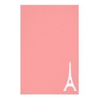 Eiffel Tower Pink Stationery