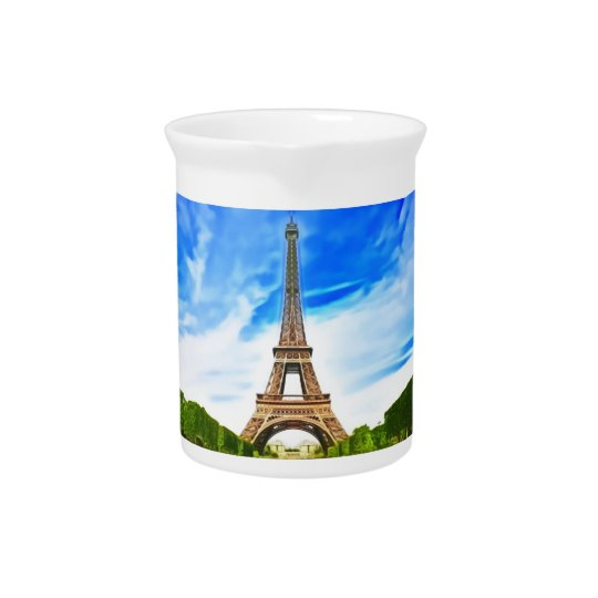 eiffel tower pitcher