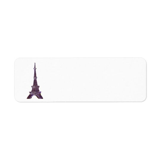 Eiffel Tower Pointillism address labels