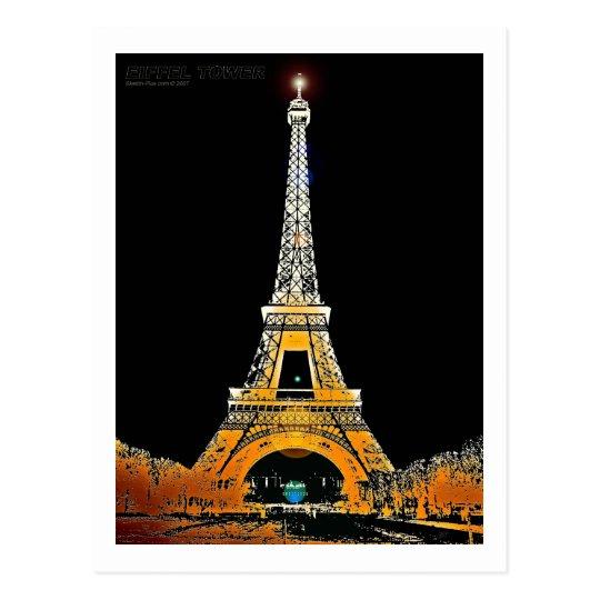 Eiffel Tower Postcard