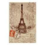 Eiffel Tower: Punctual in Paris! Posters