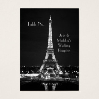 Eiffel Tower Reception Table cards