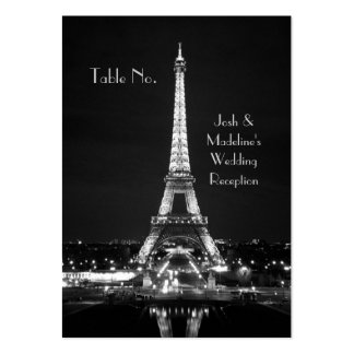 Eiffel Tower Reception Table cards Pack Of Chubby Business Cards