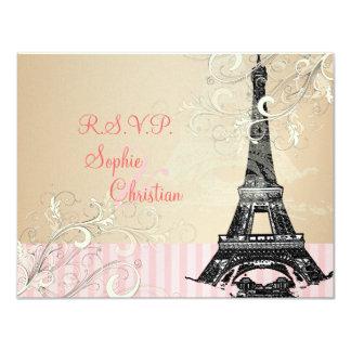 "Eiffel Tower RSVPs require 5x7 Invitations 4.25"" X 5.5"" Invitation Card"