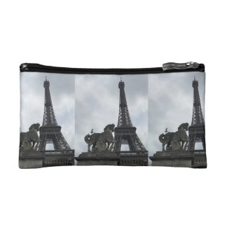 Eiffel Tower Silhouette Small Cosmetic Bag