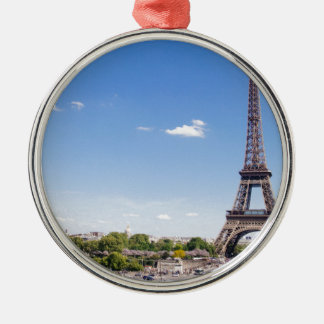 eiffel-tower Silver-Colored round decoration
