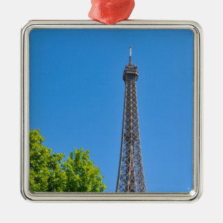 Eiffel Tower Silver-Colored Square Decoration