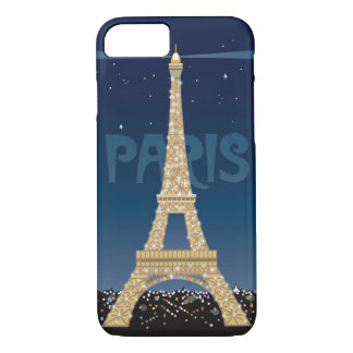 Eiffel Tower Sparkle iPhone 7 Barely There Case