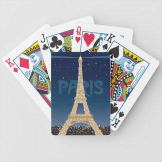 Eiffel Tower Sparkle Playing Cards