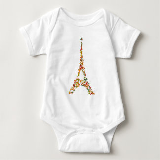 Eiffel Tower splatter painting multicolored Paris Baby Bodysuit