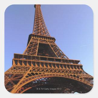 eiffel tower square sticker