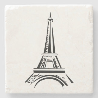 Eiffel tower stone beverage coaster