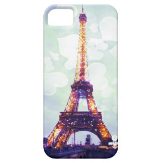 Eiffel Tower Teal green background iPhone case Barely There iPhone 5 Case