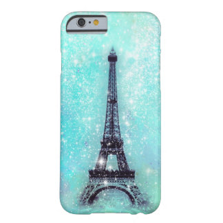 Eiffel Tower Turquoise Barely There iPhone 6 Case