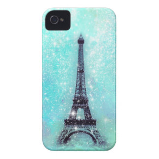 Eiffel Tower Turquoise Case-Mate iPhone 4 Case
