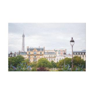 Eiffel Tower View 001 Canvas Print
