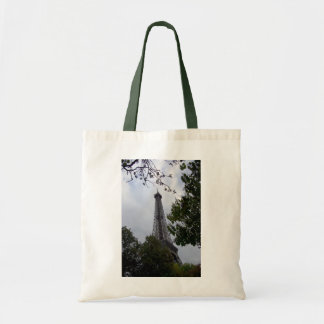 Eiffel Tower view between foliage Tote Bag