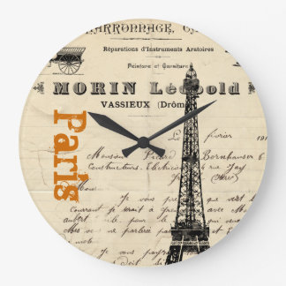 Eiffel Tower Vintage French Clock