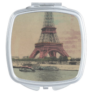 Eiffel Tower Vintage French Compact  Mirror