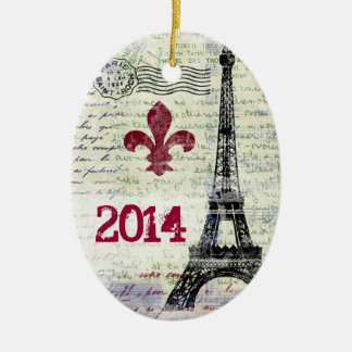 Eiffel Tower Vintage French Ornament