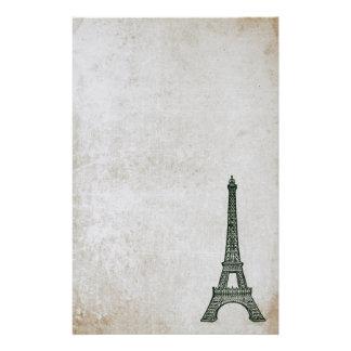 Eiffel Tower Vintage Paris Parchment Retro Stained Stationery