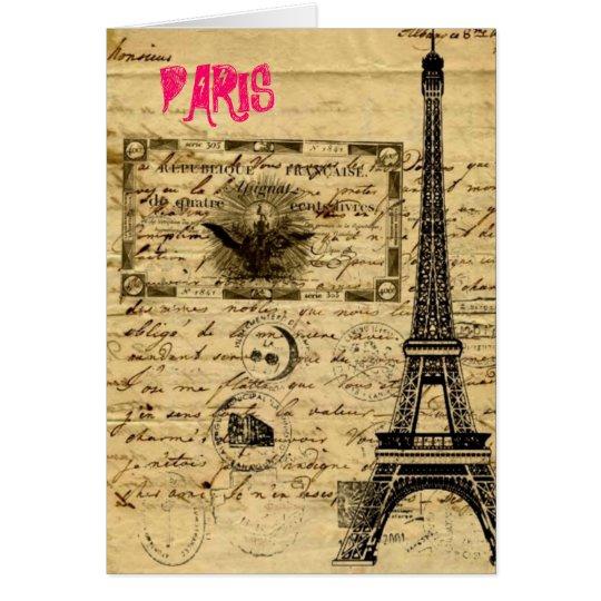 Eiffel Tower Vintage Paris Thank You Cards