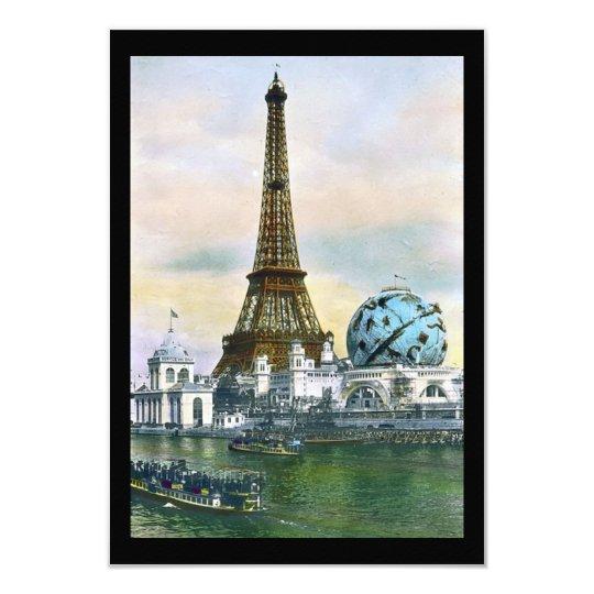 Eiffel Tower Vintage Postcard Print