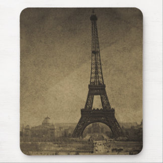 Eiffel Tower Vintage Stereoview Mouse Mat