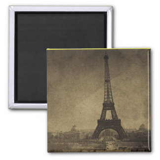 Eiffel Tower Vintage Stereoview Square Magnet