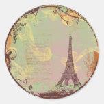 Eiffel Tower Vintage Style in Pink Sticker