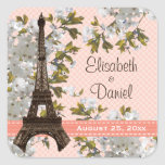 Eiffel Tower Wedding Favour Labels Stickers