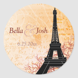 Eiffel Tower Wedding Sticker