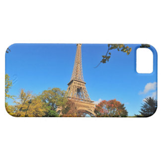 Eiffel Tower with autumn trees and leaves Case For The iPhone 5