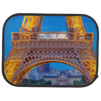 Eiffel Tower with Ecole Militaire beyond Car Mat