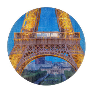 Eiffel Tower with Ecole Militaire beyond Cutting Board