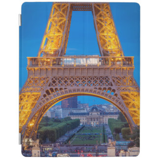 Eiffel Tower with Ecole Militaire beyond iPad Cover