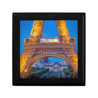 Eiffel Tower with Ecole Militaire beyond Small Square Gift Box
