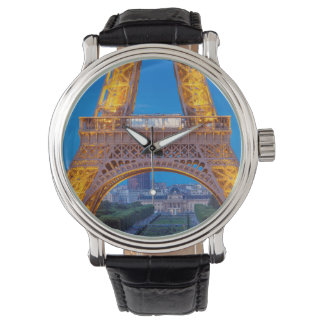 Eiffel Tower with Ecole Militaire beyond Watch