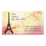 Eiffel Tower with floating hearts Pack Of Standard Business Cards