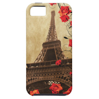 Eiffel Tower with Red Roses iPhone 5 Covers