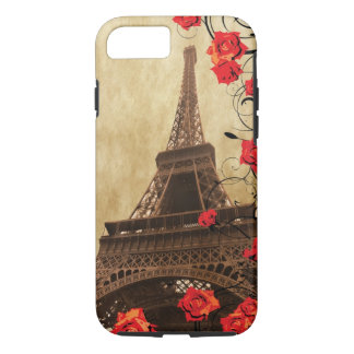 Eiffel Tower with Red Roses iPhone 8/7 Case