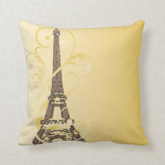Eiffel Tower with Scrolls Cushion