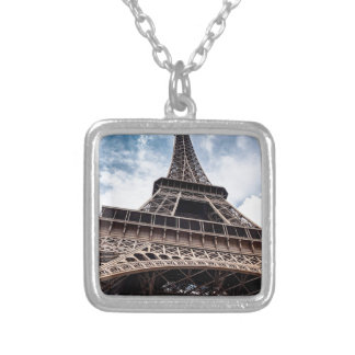eiffeltower silver plated necklace