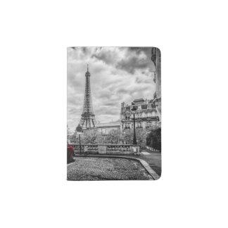 Eiffle Tower Black, White and Red. Passport Holder