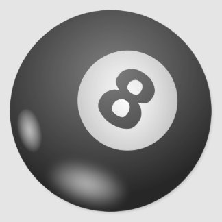 Eight - 8 - Ball Classic Round Sticker